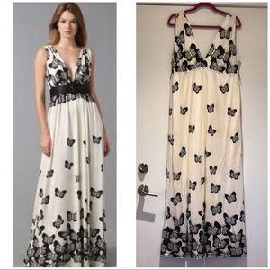 Alice + Olivia butterfly maxi dress M